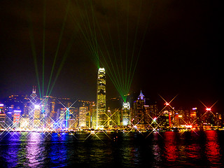 photo - Victoria Harbour Light Show