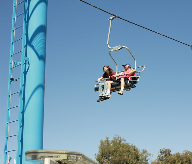 Alex and Richard on the Sky Chair ride State Fair 2016