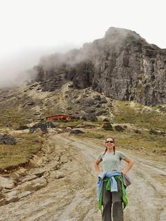 Clare and the Pichincha Hut