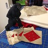 Lazy Saturday with Godzilla- I may get this project finished! #create #memoriumquilt