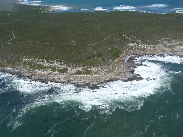 Costa de las ballenas (Sudáfrica) desde una avioneta