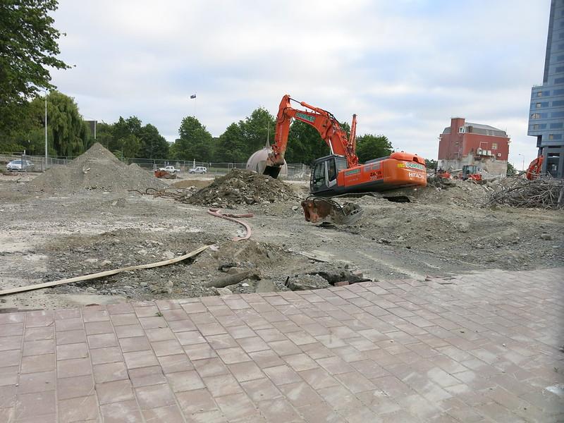 Central Library demolition, Gloucester Street