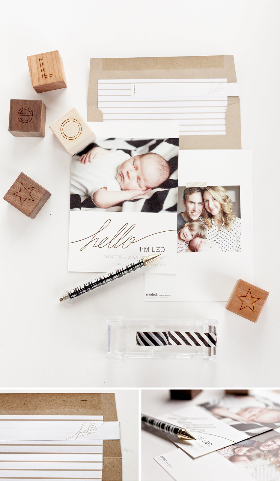leo birth announcement - minted