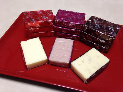 ロルフベビーチーズ。プレーン、梅しそ、アーモンド。