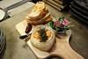 4th anniversary toast: salmon rillette, sea urchin, bacon jam