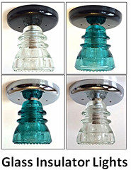 Glass Insulator Lights Insulator Lights