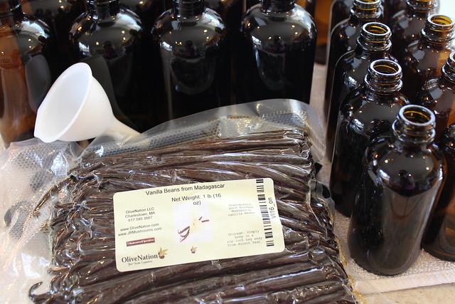 Gather your supplies to make homemade Vanilla