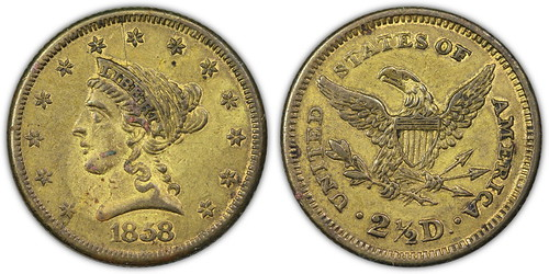 1858 Liberty Quarter Eagle Contemporary Counterfeit