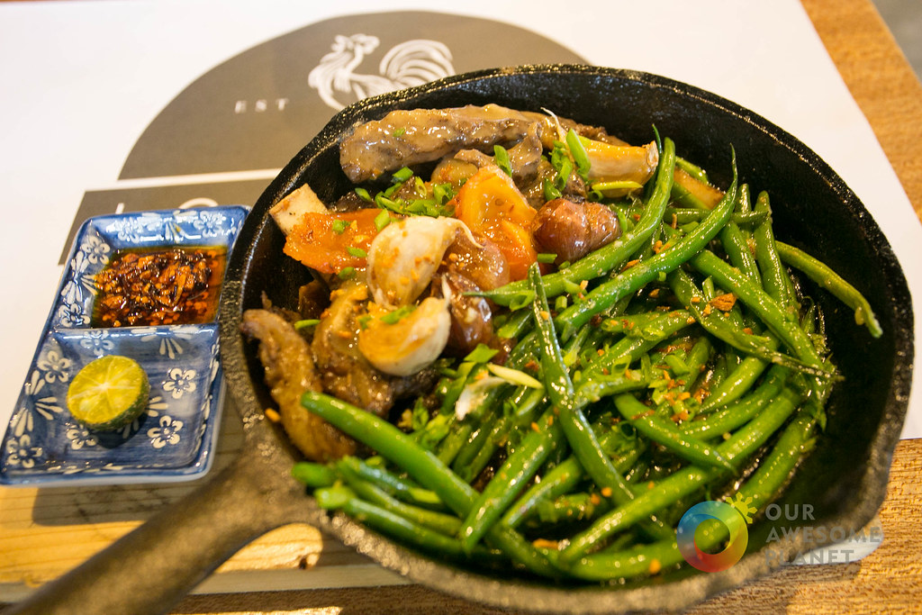 Sizzling Sinigang (P530 +10% service charge). Beef Short Ribs/Sauteed French Beans/Sampaloc Gravy/Garlic Confit.