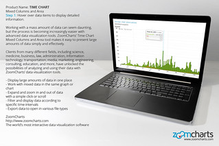 Step 1: Hover over data items to display detailed information. ZoomCharts Time Chart for PC and laptops