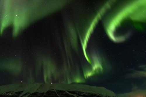 Aurora borealis over Abisko
