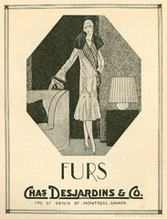 Publicité pour les fourrures Desjardins, rue Saint-Denis. 1927. P98-01_069 13
