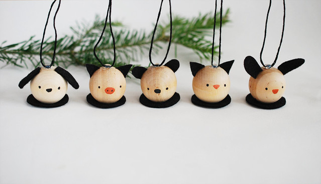 Wooden Critter Ornaments