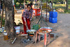 Cooking at a Roadside Stand in Cambodia