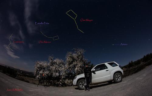 Noche de almendro y estrellas