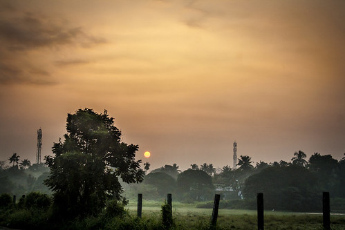 morning india sunrise canon kerala 1855 cochin kochi eloor 1000d