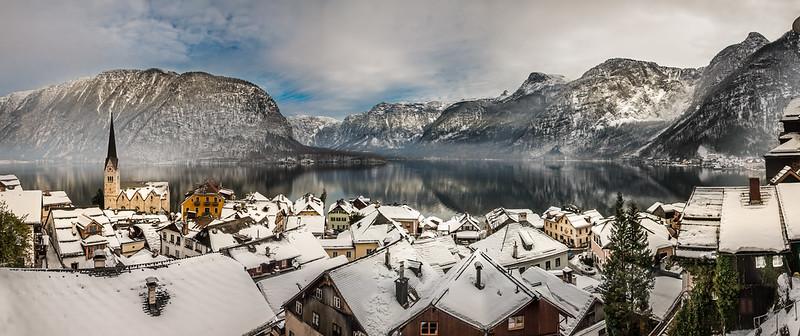 Hallstatt Winter Panorama