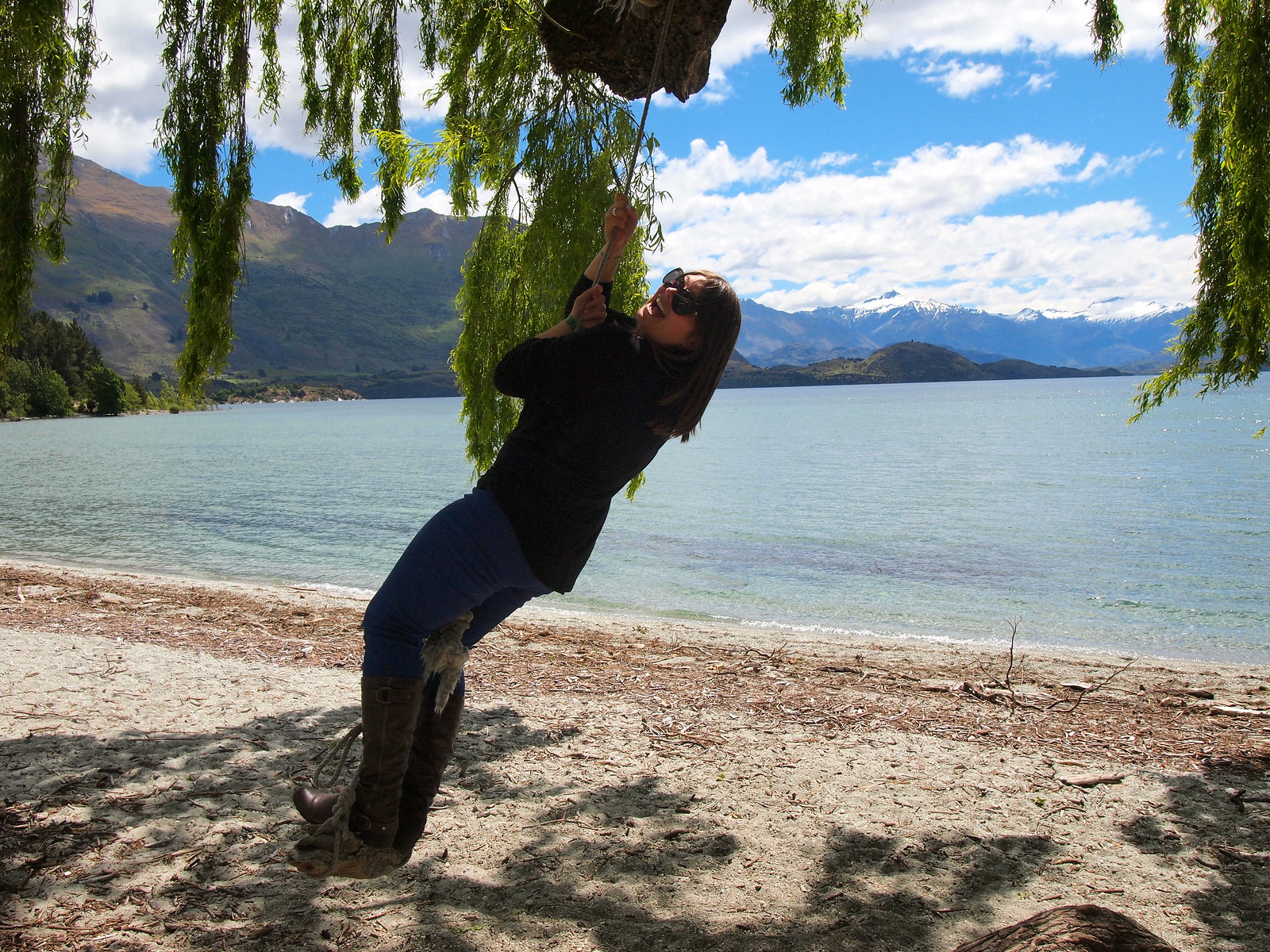 Having fun in Wanaka, NZ