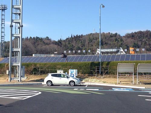 山陽自動車道 福山SA(下り) 電気自動車用急速充電器