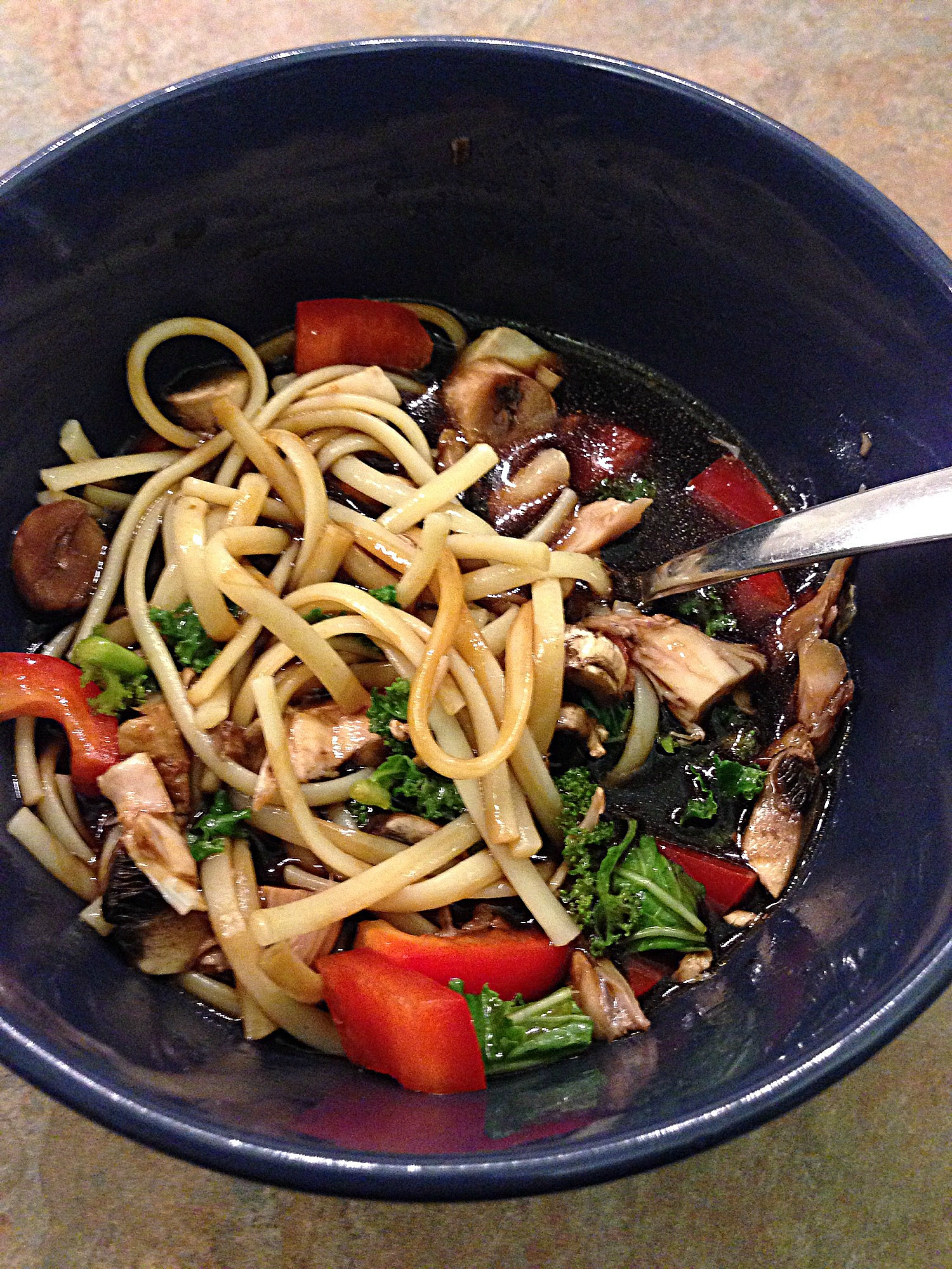 Homemade noodle bowl