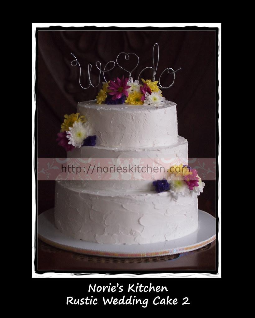 Nories Kitchen Rustic Wedding Cake 2 Nories Kitchen Custom Cakes
