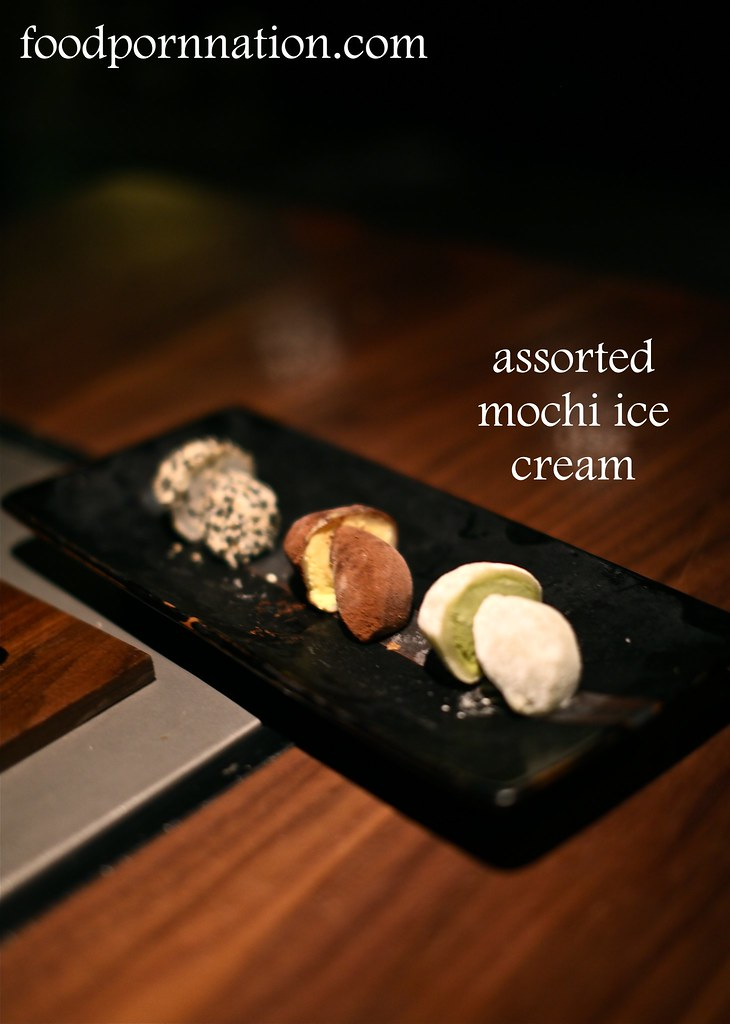 assorted mochi ice cream - Kintan, Holborn