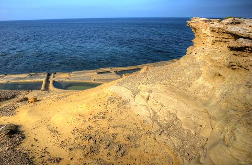 sea meer malta gozo saltpan salzpfanne żebbuġ batterija