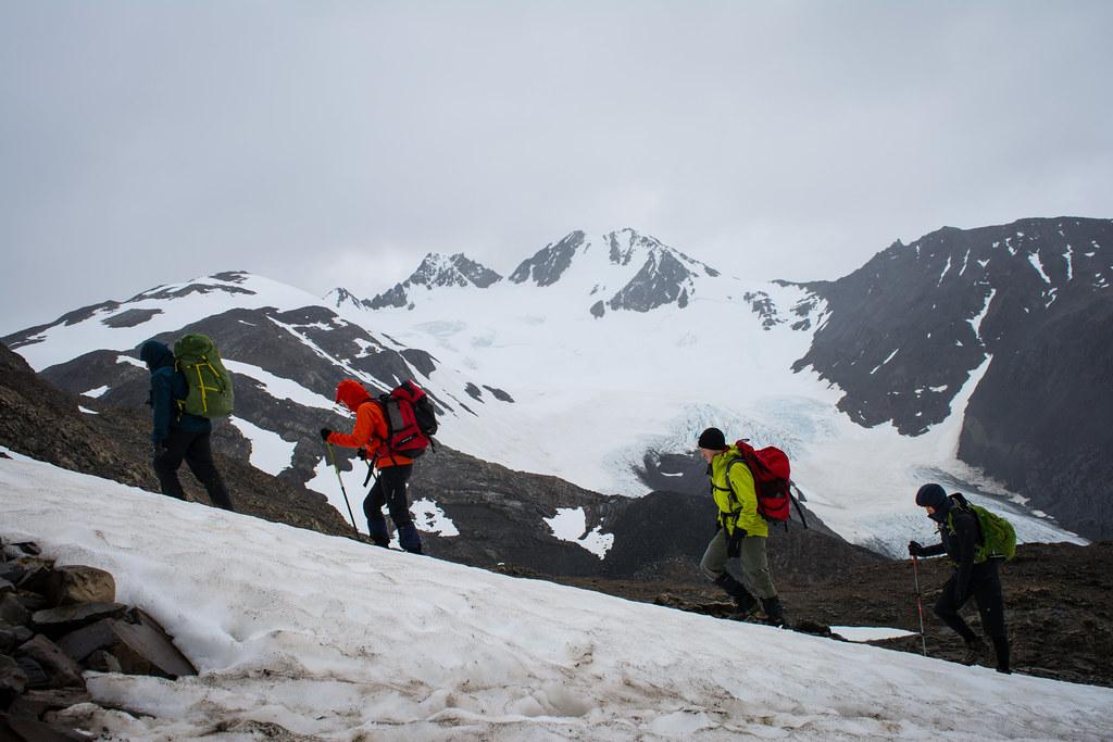 Finally reaching the John Gardner Path in the snow!