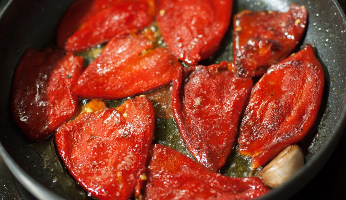 Pimientos en pepitoria sin almidón