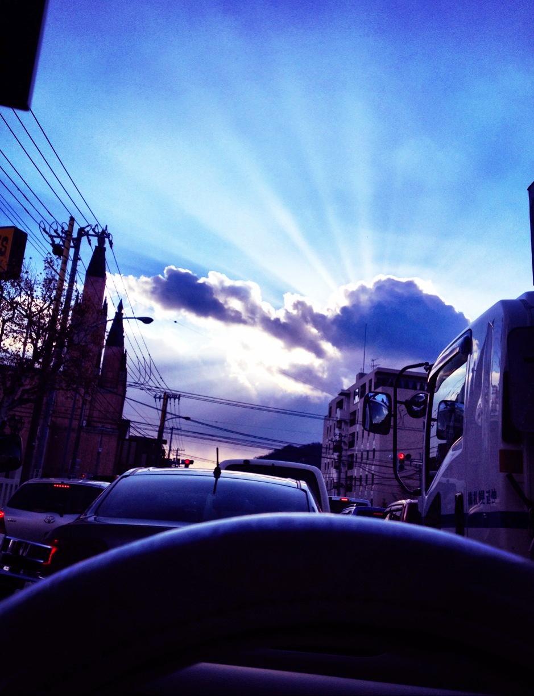 朝日の透明感