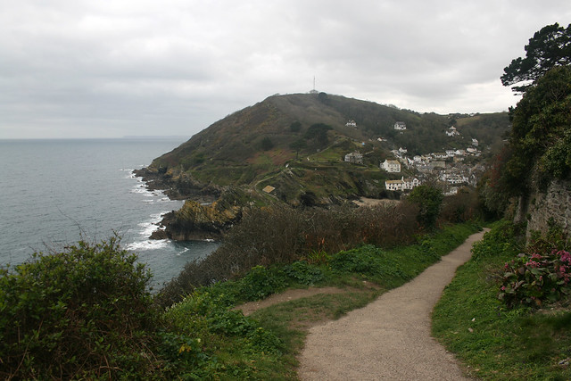 Heading east on the coast path out of Polperro