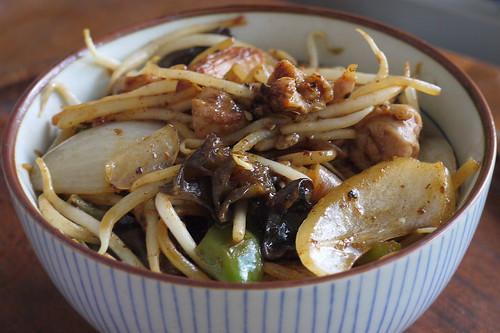 北京餃子鶏スタミナ丼風