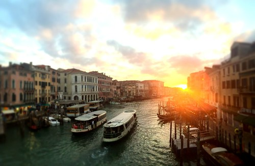 Grand Canal Sunset Tiltshift, Venice, Italy, 2015