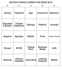 Ed Tech Bingo Cards for SXSW 2015