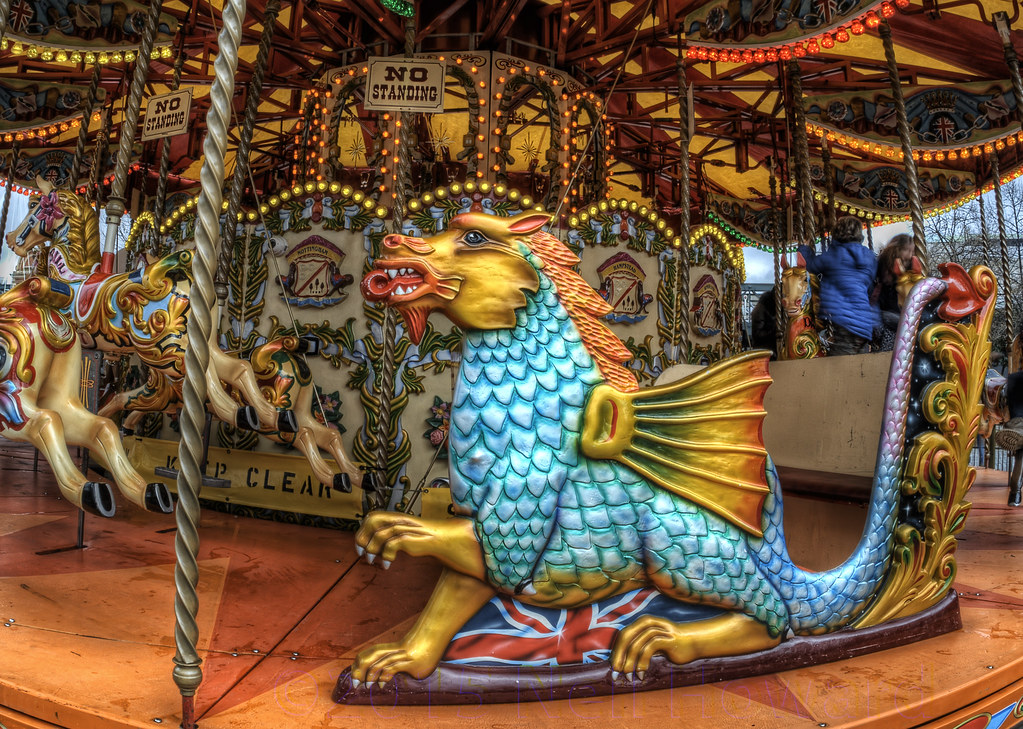 The Dragon on the Carousel at London's Southbank