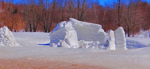 winter snow cold melting