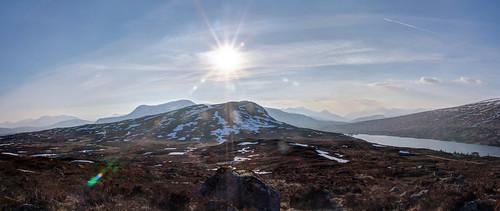 mountain landscape scotland wintersunset