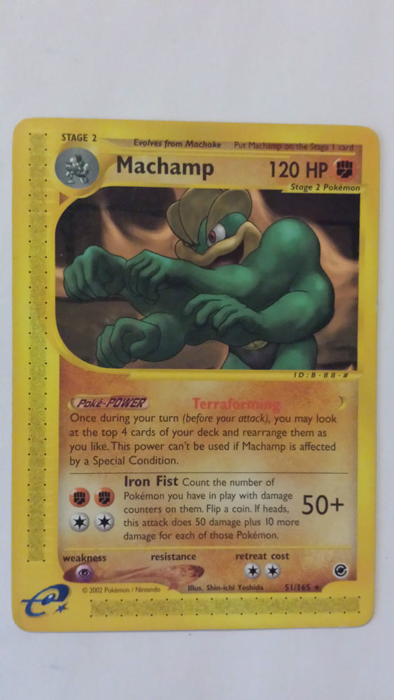 Rare 165 51 Set Machamp Pokemon Card Flickr Expedition Base