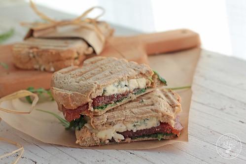 Sándwich membrillo y queso azul www.cocinandoentreolivos.com (3)