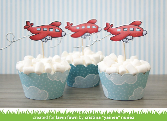 Party plane cupcakes