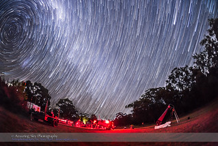Southern Sky Star Trails – OzSky Looking West