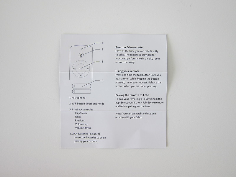 Amazon Echo Voice Remote - Instructions
