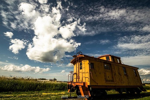Caboose in Poplar #train #onlyinwisconsin #clouds #skyporn #caboose #wisconsin