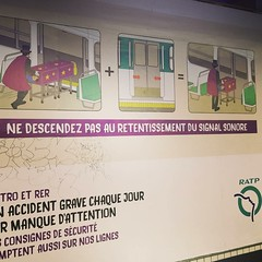 Just because it's the #rentreé doesn't mean you need to rush ;) #paris #ratp