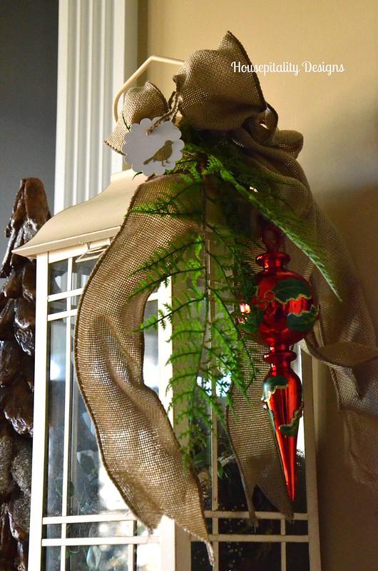 Ornament adorned lantern-Housepitality Designs