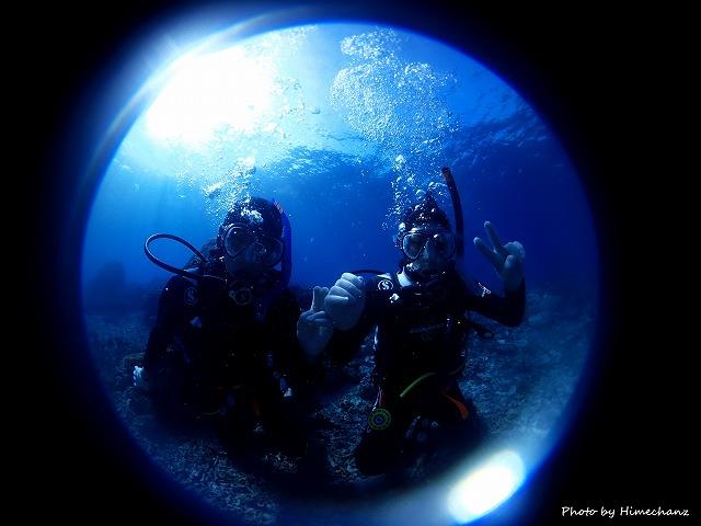 水中世界の虜となった体験チームのM兄弟♪