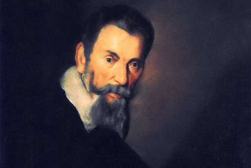 Copy of a portrait of Claudio Monteverdi by Bernardo Strozzi, hanging in the Gallerie dall'Accademia in Venice (1640)