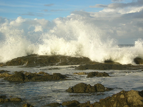 ocean sea sky water clouds rocks waves australia panasonic queensland splash goldcoast snapperrocks dmclc70