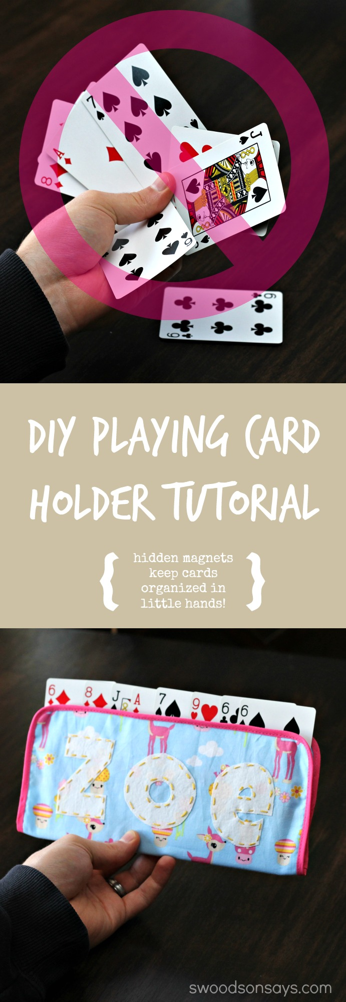 DIY Playing Card Holder for Kids
