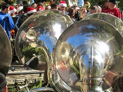 drummer(0.0), drums(0.0), drum(0.0), festival(1.0), sousaphone(1.0), carnival(1.0), musical instrument(1.0),